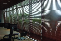 AAA - Wood Blinds semi closed